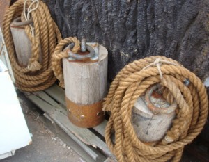 Wooden Post With Rope