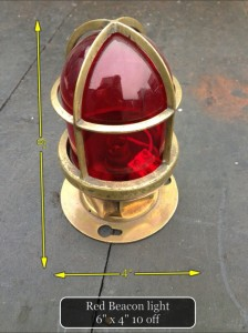 Red Glass Beacon Light