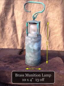 Brass Munition Lamp