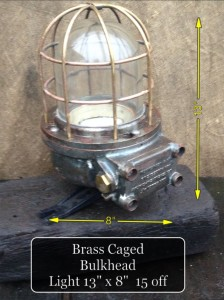 Brass Caged Bulkhead