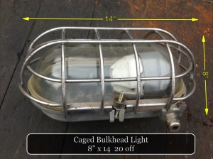 Caged Bulkhead Light
